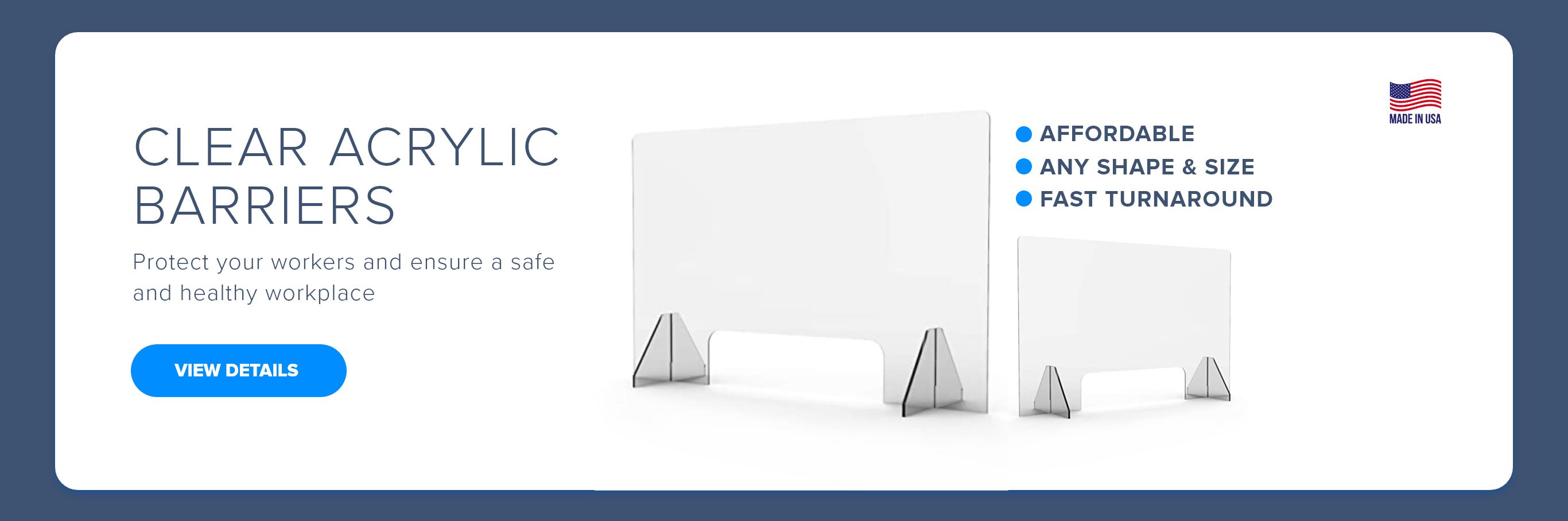 Clear Acrylic Barriers